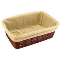 Купить корзинка для хлеба дхшхв 255х175х72 мм с чехлом прямоугольная пластик темно-коричневая bora 1/60 в Москве
