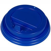 Купить крышка для стакана d80 мм с закрытым питейником ps синяя 1/100/1000 в Москве