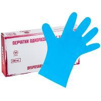 Купить перчатки одноразовые эластомер m 200 шт/уп синие textop 1/10 в Москве