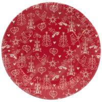 Купить тарелка бумажная d190 мм с дизайном рождество papstar 1/16/240 в Москве