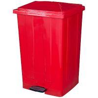 Купить бак мусорный прямоугольный 85л дхшхв 440х410х705 мм с педалью пластик красный bora 1/3 в Москве