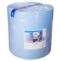 Купить материал протирочный бумажный 2-сл 340 м в рулоне н369хd375 мм tork синий sca 1/1 в Москве