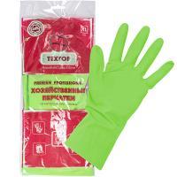 Купить перчатки хозяйственные xl особопрочные premium латекс цвет в ассортименте textop 1/12/120 в Москве