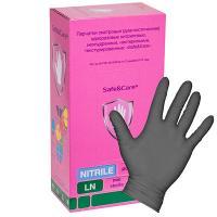 Купить перчатки одноразовые нитриловые s 100 шт/уп черные 1/10 в Москве