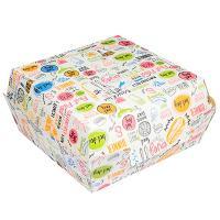 Купить упаковка для гамбургера дхшхв 115х115х60 мм с дизайном enjoy картонная gdc 1/50/150 в Москве