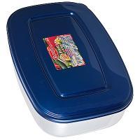 Купить контейнер прямоугольный 1.7л дхшхв 235х170х70 мм крышка синяя пластик bora 1/48 в Москве