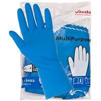 Купить перчатки хозяйственные l многоцелевые латекс голубые vileda 1/10/50 в Москве