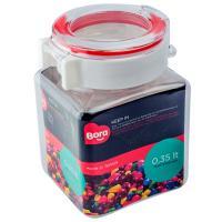 Купить контейнер квадратный 0.35л дхшхв 75х67х108 мм полоса красная пластик bora 1/12 в Москве