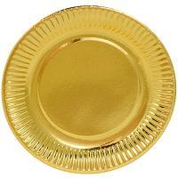 Купить тарелка бумажная d190 мм картон золотистый papstar 1/6/90 в Москве