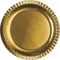 Купить тарелка бумажная d290 мм картон золотистый papstar 1/6/90 в Москве