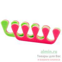Купить разделитель для пальцев 20 пар/уп ппэ розовый/салатовый 1/1 в Москве