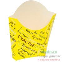 Упаковка для картофеля фри ДхШхВ 68х32х100 мм с дизайном FIESTA КАРТОННАЯ PPS 1/500