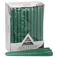 Купить свеча коническая н250 мм 50 шт/уп зеленая papstar 1/2 в Москве