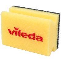 Купить губка для мытья посуды профилированная дхш 95х70 мм с черным абразивом поролон желтая vileda 1/9/216 в Москве