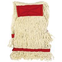 Купить насадка - моп (mop) для швабры веревочная петлевая с красной прошивкой kentucky 450 г белая хлопок hunter 1/25 в Москве