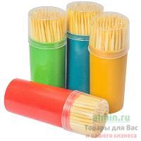 Зубочистки Н65 мм 100 шт без индивидуальной упаковки в пластиковом стаканчике 1/12/480