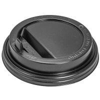 Купить крышка для стакана d90 мм с закрытым питейником ps черная 1/100/1200 в Москве