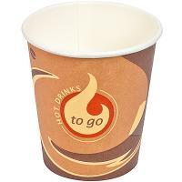 Купить стакан бумажный 180мл d72 мм 1-сл для горячих напитков to-go papstar 1/80/2000 в Москве