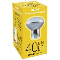 Купить лампа накаливания е14 теплый свет 40вт 220v r50 зеркальная старт 1/1 в Москве