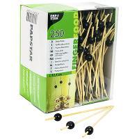 Купить пика декоративная жемчужина черная н125 мм 250 шт/уп для канапе бамбук papstar 1/6 в Москве