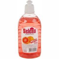 Купить мыло жидкое 500мл прозрачное красный апельсин selena с дозатором push-pull gf 1/20 в Москве
