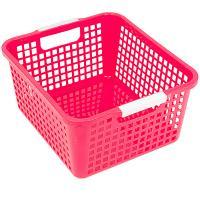 Купить корзинка дхшхв 258х223х125 мм пластик розовая bora 1/48 в Москве