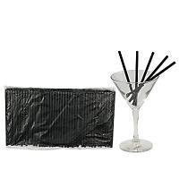 Купить соломка (трубочка) для коктейля н125хd5 мм 400 шт/уп pp черная 1/50 в Москве