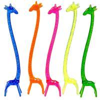 Купить размешиватель декоративный жираф н140 мм 100 шт/уп пластик разноцветный пласт-лидер 1/10 в Москве