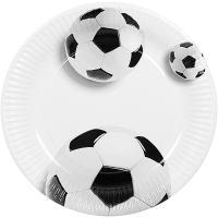 Купить тарелка бумажная d230 мм с дизайном футбольный мяч картон papstar 1/10/200 в Москве