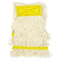Купить насадка - моп (mop) для швабры веревочная петлевая с желтой прошивкой kentucky 450 г белая хлопок hunter 1/25 в Москве