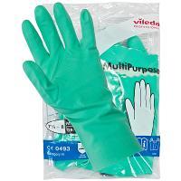 Купить перчатки хозяйственные m многоцелевые латекс зеленые vileda 1/10/50 в Москве