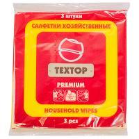 Купить салфетка универсальная вискозная дхш 350х350 мм 3 шт/уп premium textop 1/100 в Москве