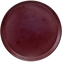 Купить поднос круглый d455 мм противоскользящий пластик коричневый bora 1/24 в Москве