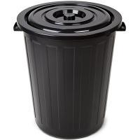 Купить бак мусорный круглый 105л н660хd550 мм пластик черный bora 1/6 в Москве