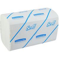Купить полотенце бумажное листовое 1-сл 212 лист/уп 215х315 мм z-сложения scott белое kimberly-clark 1/15 в Москве