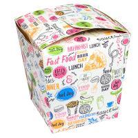 Купить контейнер бумажный china pack 560мл дхшхв 95х95х100 мм с декором enjoy gdc 1/420 в Москве
