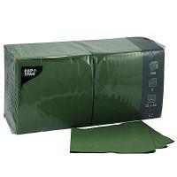 Купить салфетка бумажная зеленая 33х33 см 3-сл 250 шт/уп papstar 1/4 в Москве