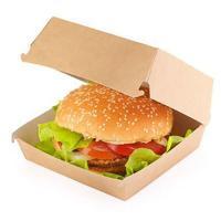 Купить упаковка для гамбургера дхшхв 120х120х70 мм крафт 1/20/240 в Москве