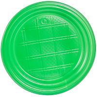 Купить тарелка d165 мм ps зеленая ипк 1/100/2400 в Москве