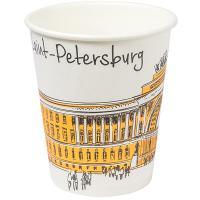 Купить стакан бумажный 250мл d80 мм 1-сл для горячих напитков города v 1/50/1000 в Москве