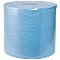 Купить материал протирочный бумажный 1-сл 200 м в рулоне н185хd200 мм wypall l10 с центр вытяжением синий kimberly-clark 1/6 в Москве