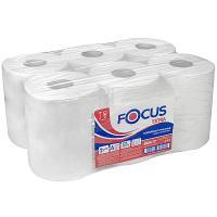 Купить полотенце бумажное 2-сл 125 м в рулоне*6 с центр вытяжением н207хd160 мм focus extra jumbo белое hayat 1/1 в Москве