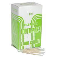 Купить зубочистки h65 мм 1000 шт/уп ментоловые в пленке в индивидуальной упак дерево 1/30 в Москве