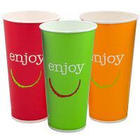 Купить стакан бумажный 500мл d90 мм 1-сл для холодных напитков enjoy huhtamaki 1/50/1000 в Москве
