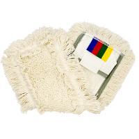 Купить насадка - моп (mop) для швабры ш 400 мм плоская с карманами и ушками контрактплюс комбиспид про vileda 1/20 в Москве