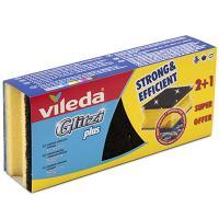 Купить губка профилированная дхш 95х70 мм 3 шт/уп с черным абразивом глитци плюс поролон желтая vileda 1/8 в Москве