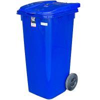 Купить бак мусорный прямоугольный 120л дхшхв 600х480х960 мм на колесах пластик синий bora 1/3 в Москве