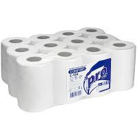 Купить полотенце бумажное 1-сл 120 м в рулоне*12 с центр вытяжением н200хd135 мм белое protissue 1/1 в Москве