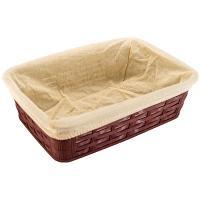 Купить корзинка для хлеба дхшхв 228х152х72 мм с чехлом прямоугольная пластик темно-коричневая bora 1/60 в Москве