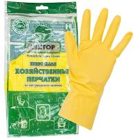 Купить перчатки хозяйственные l turbo clean латекс textop 1/12/300 в Москве